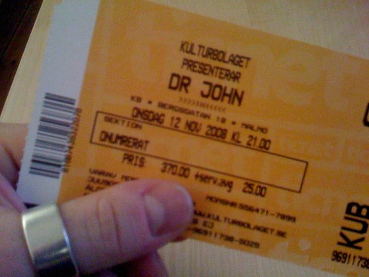 Dr. John biljett