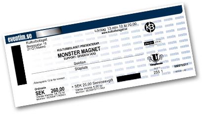 Monster Magnet biljett