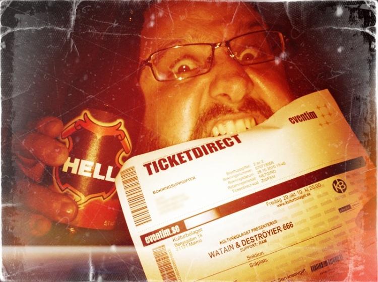 Nosegarden med Hell och Watainbiljett