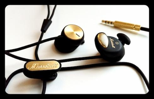 Marshall Headphones Minor, closeup