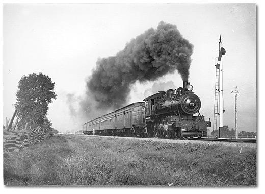Grand Trunk Railway steam train, 1904