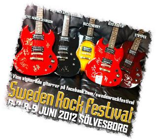 Faksimil: Tävling av signerade gitarrer